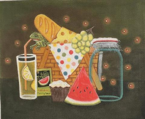 click here to view larger image of Firefly Picnic  (hand painted canvases)