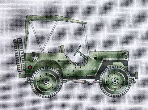 click here to view larger image of Army Jeep (hand painted canvases)