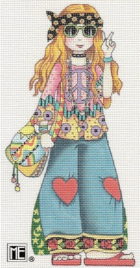 click here to view larger image of Hippie Girl (full body) Stitch Guide (books)