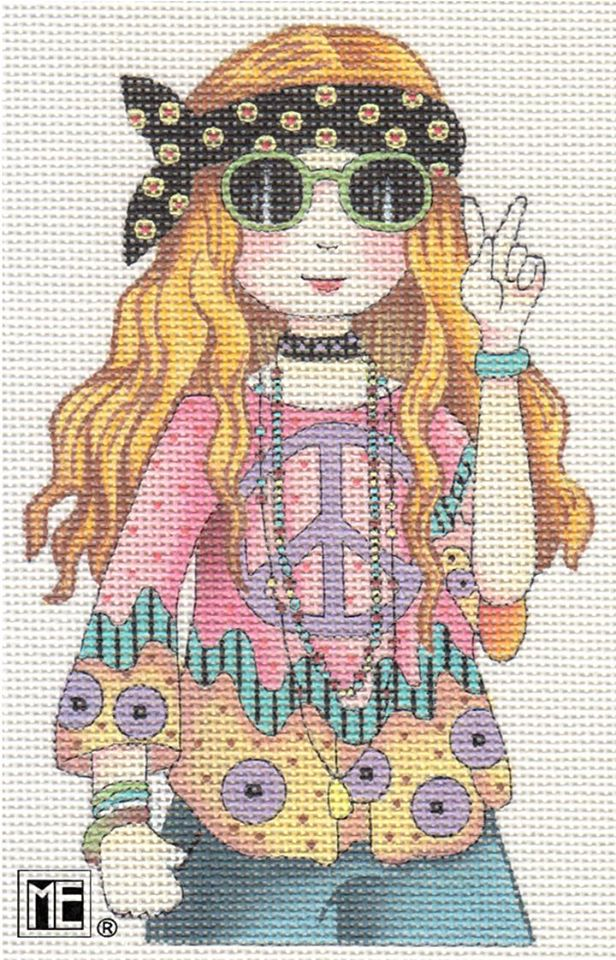 click here to view larger image of Hippie Girl (Close Up) Stitch Guide (books)