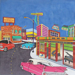 click here to view larger image of Rock and Roll Boulevard (hand painted canvases)