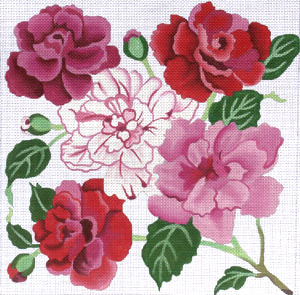 click here to view larger image of Camellias Revisited (hand painted canvases)