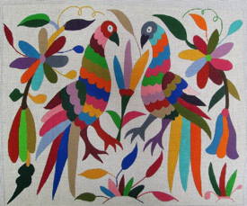 click here to view larger image of Mexican Embroidery (hand painted canvases)