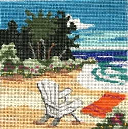 click here to view larger image of At the Beach (hand painted canvases)