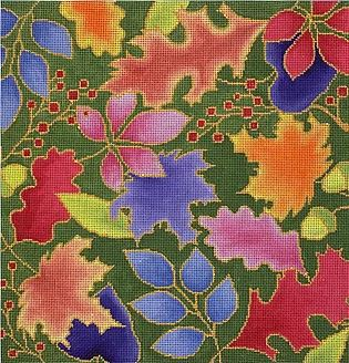 click here to view larger image of Autumn Leaves (hand painted canvases)