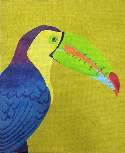 click here to view larger image of Toucan Portrait (hand painted canvases)