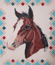 click here to view larger image of Chestnut Colt (hand painted canvases)