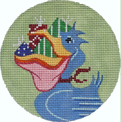 click here to view larger image of Pelicans Gifts - Round (hand painted canvases)