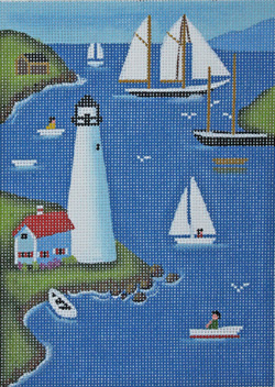 click here to view larger image of Total Lighthouse (hand painted canvases)