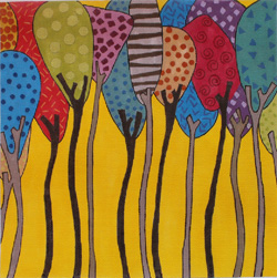 click here to view larger image of Tree Party (hand painted canvases)