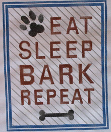 click here to view larger image of Eat Sleep Bark Repeat (hand painted canvases)