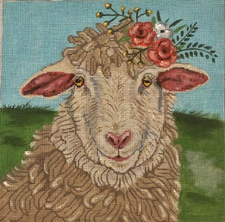 click here to view larger image of Lamb Flowers (hand painted canvases)