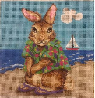 click here to view larger image of Bunny Beach  (hand painted canvases)