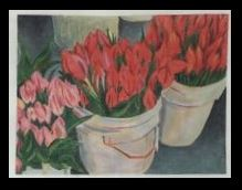 click here to view larger image of Buckets of Tulips (hand painted canvases)