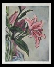 click here to view larger image of Lily Bright (hand painted canvases)