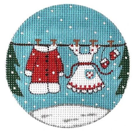click here to view larger image of Mrs Claus Clothesline (hand painted canvases)