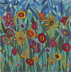 click here to view larger image of Wildflowers III - Be Wild  (hand painted canvases)