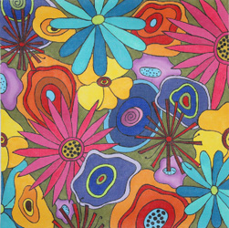 click here to view larger image of Wildflowers I  (hand painted canvases)