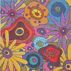 click here to view larger image of Wildflowers II (hand painted canvases)