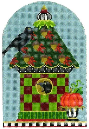 click here to view larger image of Acorn Pumpkin Crow House (hand painted canvases)