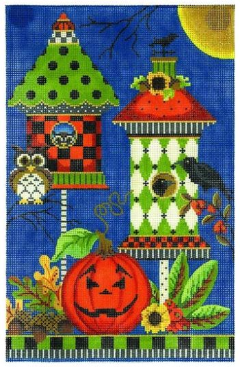 click here to view larger image of Halloween Crow House (hand painted canvases)
