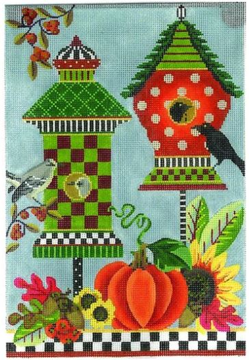 click here to view larger image of Autumn Celebration Crow House (hand painted canvases)