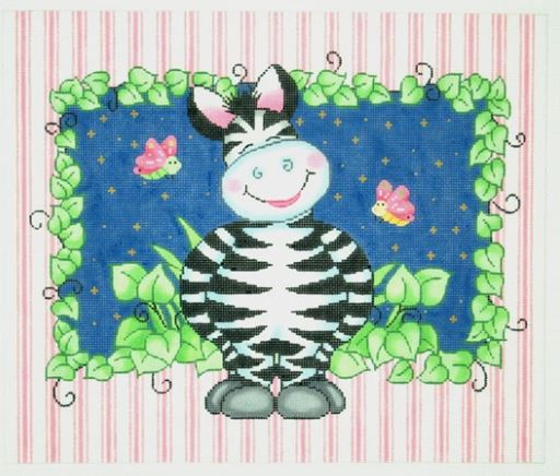 click here to view larger image of Zebra Bazoople (hand painted canvases)