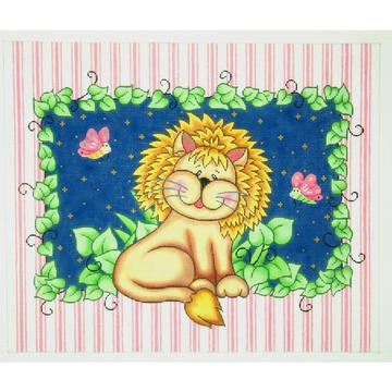 click here to view larger image of Lion Bazoople (hand painted canvases)