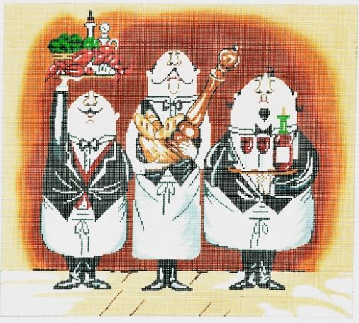 click here to view larger image of 3 Waiters - 1 (hand painted canvases)