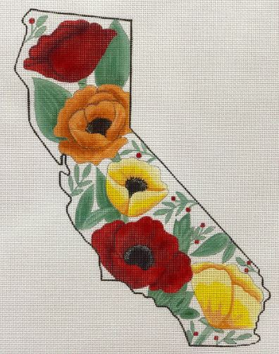 click here to view larger image of California State Poppies (hand painted canvases)