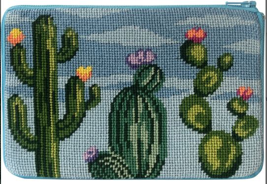 click here to view larger image of Flowering Cacti - Stitch and Zip (needlepoint kits)