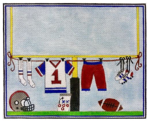 click here to view larger image of Football Players Clothesline (hand painted canvases)