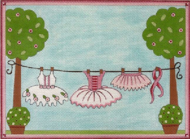 click here to view larger image of Ballet Clothesline (hand painted canvases)