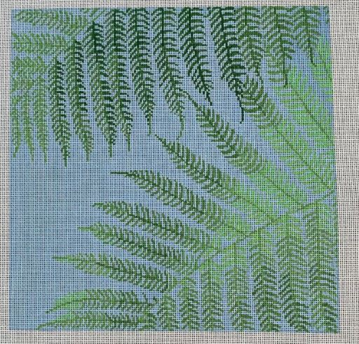 click here to view larger image of Sunlit Fern (hand painted canvases)