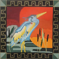 click here to view larger image of Bird at Sunset (hand painted canvases)