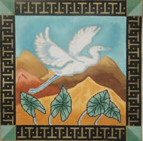 click here to view larger image of Bird in Flight (hand painted canvases)