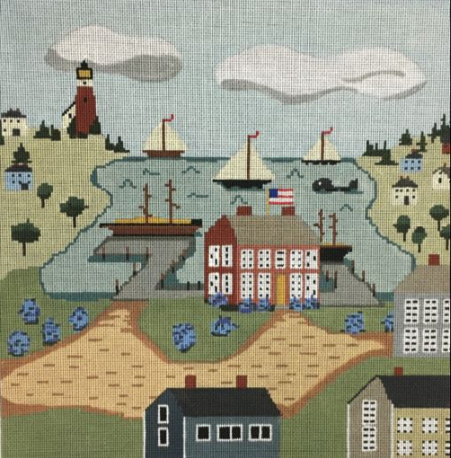 click here to view larger image of Harbor House (hand painted canvases)
