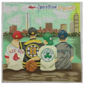 click here to view larger image of Boston Strong Sports Shirts (hand painted canvases)