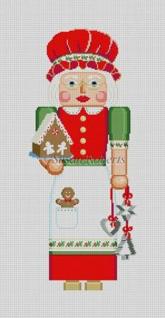 click here to view larger image of Nutcracker Stand-Up - Mrs Claus (hand painted canvases)