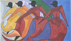click here to view larger image of African Dancers                     (hand painted canvases)