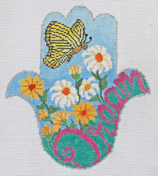 click here to view larger image of HAMSA - Dream w/ Butterfly (hand painted canvases)