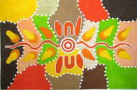 click here to view larger image of Aboriginal Art 2 (hand painted canvases)