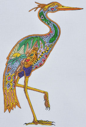 click here to view larger image of Heron (hand painted canvases)