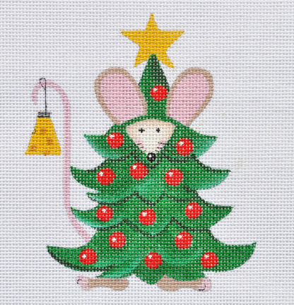 click here to view larger image of Christmas Tree Mouse  (hand painted canvases)