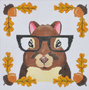 click here to view larger image of Squirrel with Glasses  (hand painted canvases)