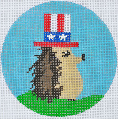 click here to view larger image of Fourth of July Hedgehog (hand painted canvases)