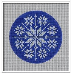 click here to view larger image of Blue Nordic Snowflake (hand painted canvases)