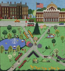 click here to view larger image of Boston Common in Spring (hand painted canvases)