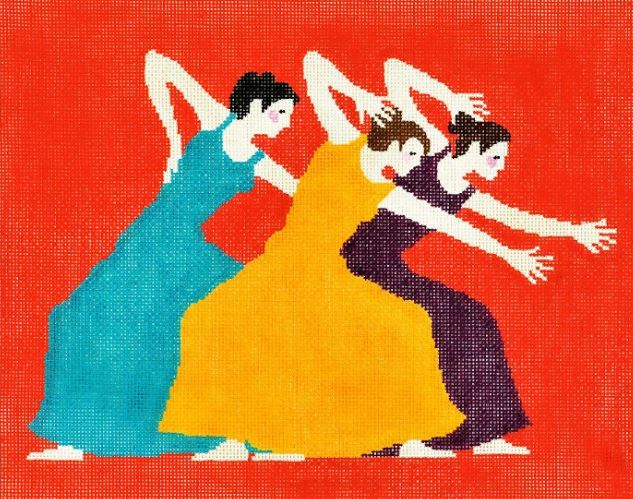 click here to view larger image of Dancers (hand painted canvases)