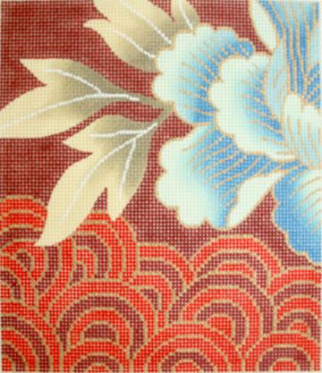click here to view larger image of Asian Pattern (hand painted canvases)